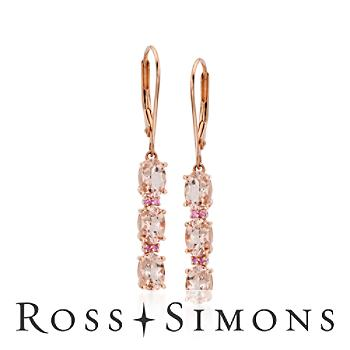 2.50 ct. t.w. Pink Morganite Drop Earrings in Sterling Silver""