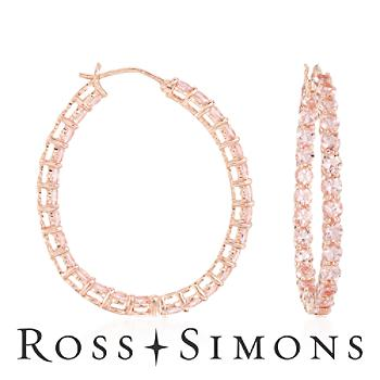 4.85 ct. t.w. Morganite In-And-Out Hoop Earrings In Rose Vermeil