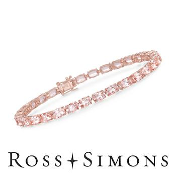 12.80 ct. t.w. Morganite Tennis Bracelet in 18kt Over Sterling