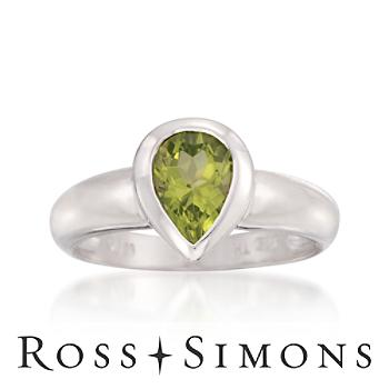 1.30 Carat Peridot Ring in Sterling Silver