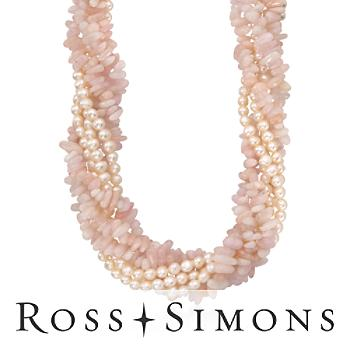 Pearl and Morganite Torsade Necklace In 14kt Yellow Gold. 16""