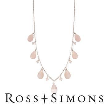 30.00 ct. t.w. Morganite Necklace In Sterling Silver. 18""