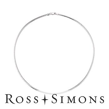 Sterling Silver 2.5mm Round Flex Omega Necklace