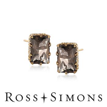 3.20 ct. t.w. Smoky Quartz Earrings in Sterling Silver