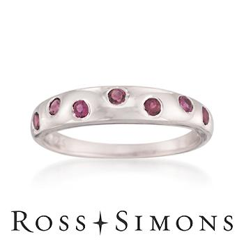 .30 ct. t.w. Pink Tourmaline Scatter Ring in Sterling Silver