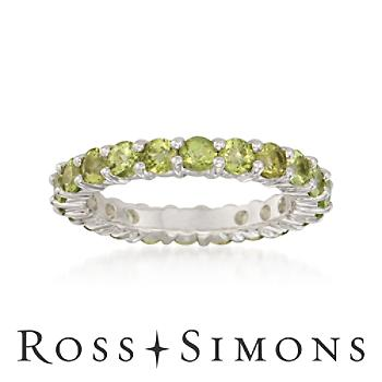 2.40 ct. t.w. Peridot Eternity Band in Sterling Silver peridot eternity band