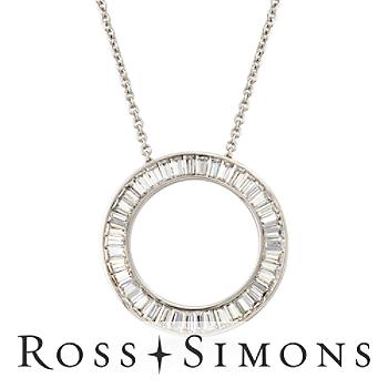 12.60ct t.w. CZ Eternity Open Circle Necklace in Silver. 18