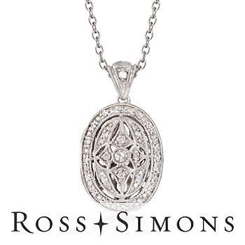 .25ct t.w. Diamond Fancy Oval Locket Necklace in Silver. 18