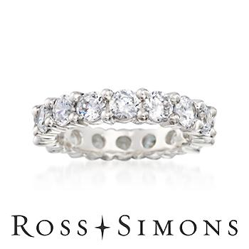 3.75 ct. t.w. CZ Eternity Band in Sterling Silver