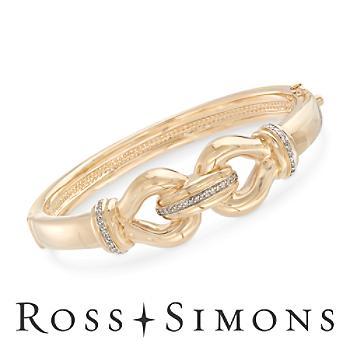 .24ct t.w. Diamond Buckle-Style Bangle Bracelet in Gold. 7.5