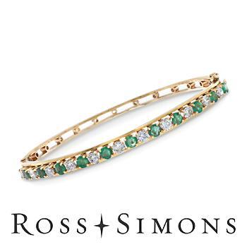C. 1970 Vintage 1.75ct t.w. Emerald, 1.35ct t.w. Diamond Bangle Bracelet. 7
