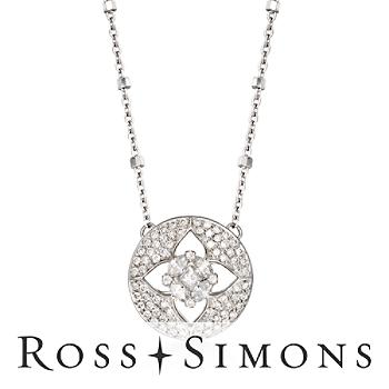 .47ct t.w. Diamond Floral Illusion Necklace in Gold. 18