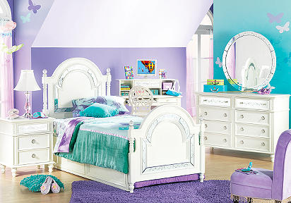 Hannah Montana 4 Pc Twin Poster Bedroom
