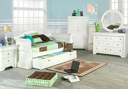 Oberon White 6 Pc Daybed Bedroom