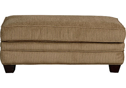 Jersey Taupe Cocktail Ottoman