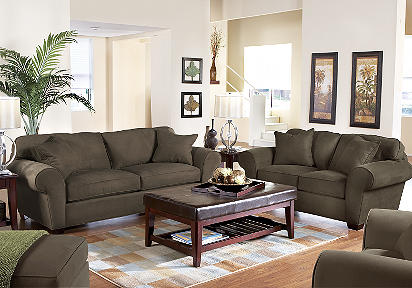 Cindy Crawford Home Claremont Espresso 7 Pc Livingroom
