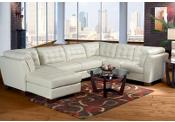 Cindy Crawford Home Metropolis Leather Left 8 Pc Livingroom