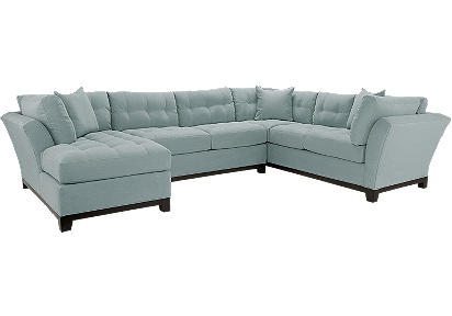 Cindy Crawford Home Metropolis Hydra Left 3 Pc Sectional