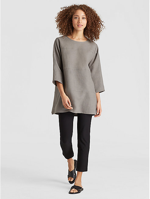 Exclusive Resewn Linen-Blocked Tunic
