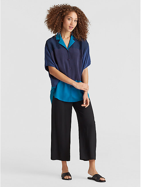 Exclusive Resewn Silk-Blocked Shirt