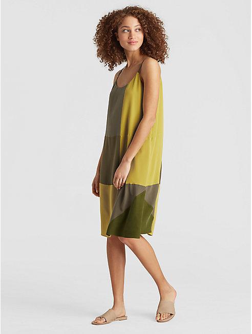 Exclusive Resewn Silk-Blocked Cami Dress
