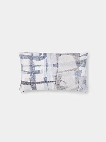 "EILEEN FISHER x West Elm Felted Denim Pillow Cover, 12"" by 21"""