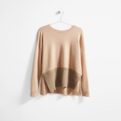Resewn Ribbed Cashmere Box-Top