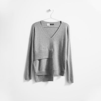 Resewn Layered Cashmere Box-Top