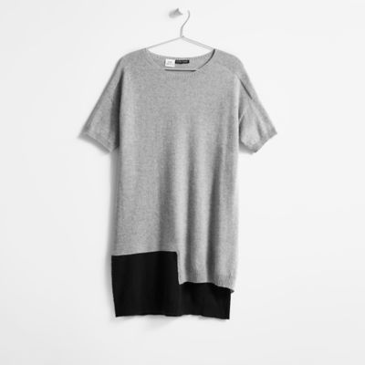 Resewn Cashmere Short-Sleeve Tunic