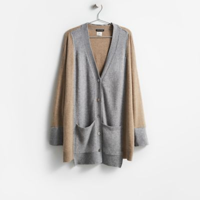 Resewn Two-Toned Cashmere Cardigan