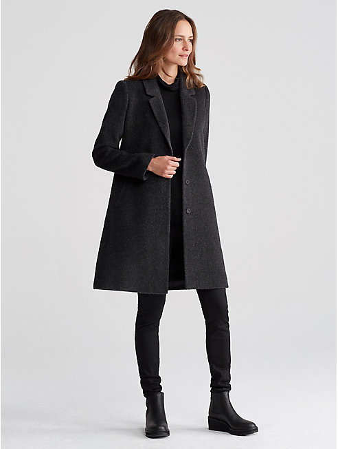 Alpaca Wool Notch Collar Coat