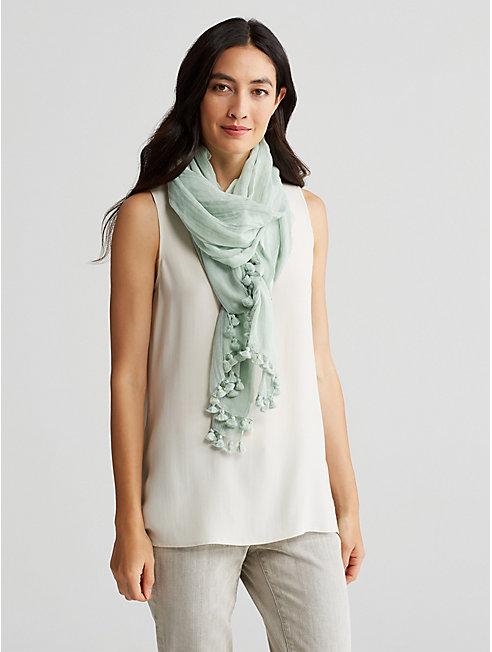 Handloomed Organic Cotton Ikat Scarf