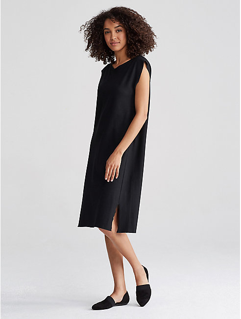 Boiled Wool Jersey Shift Dress