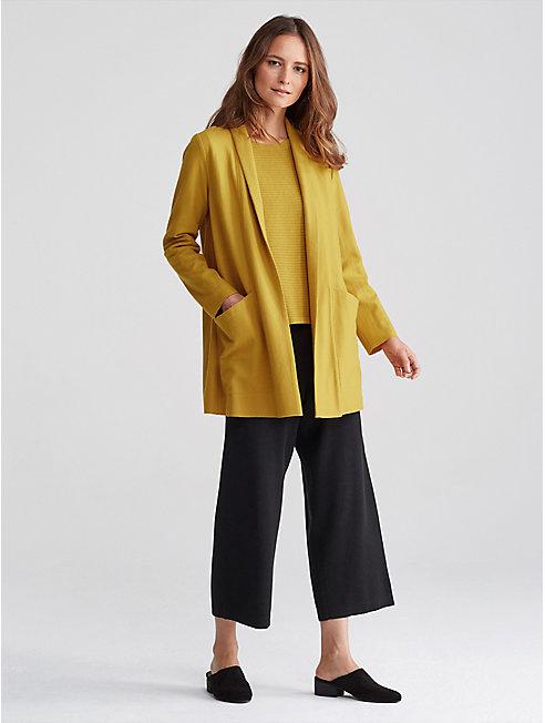 Boiled Wool Jersey Kimono Jacket
