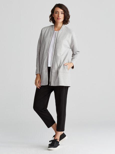 Eileen Fisher Zip-Up Linen Jacket Cheap Pre Order 2018 New For Sale frTLU61ech