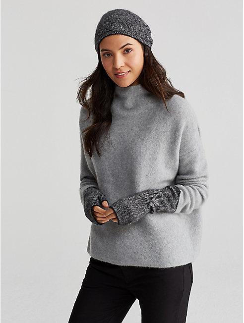 Cashmere Silk Bliss Ministripe Glovelettes