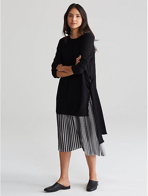 Seamless Italian Cashmere Side-Tie Tunic