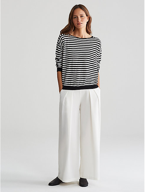 Seamless Italian Cashmere Stripe Box-Top