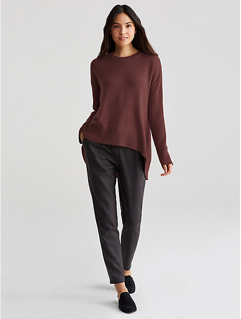 Fine Cashmere High-Low Sweater