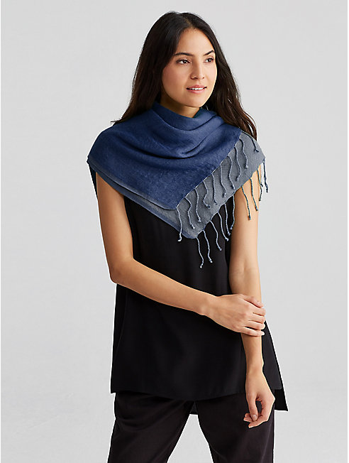 Airy Linen Cashmere Doubleweave Scarf