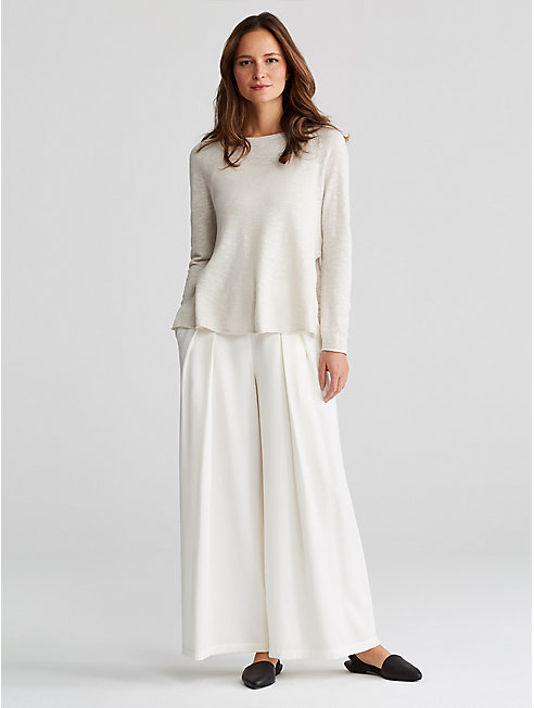 Corded Tencel Wide-Leg Pant