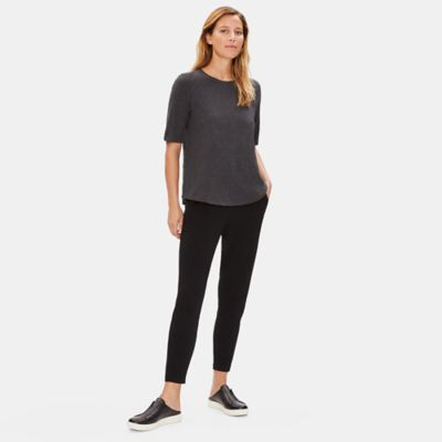 System Organic Cotton Jersey Melange Elbow-Sleeve Tee