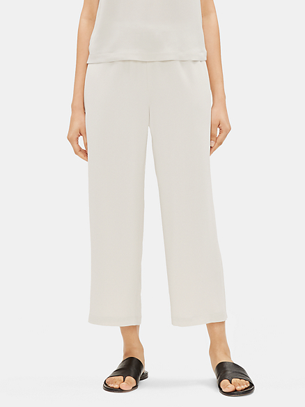 Details about  /Eileen Fisher Silk Georgette Crepe Culottes Pants 450$  size 12 size 18