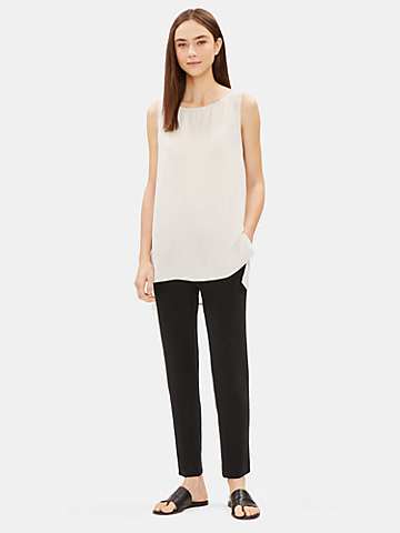 System Silk Georgette Crepe Slouchy Ankle Pant