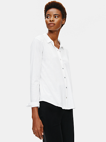System Organic Cotton Easy Jersey Shirt