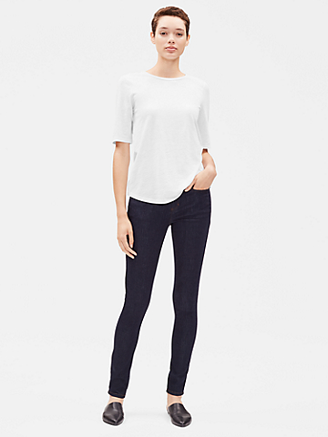 System Organic Cotton Slub Elbow-Sleeve Tee
