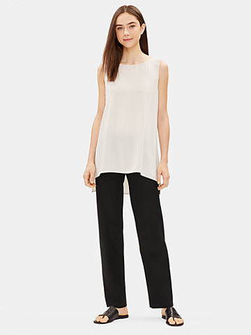 System Washable Stretch Crepe Straight Pant