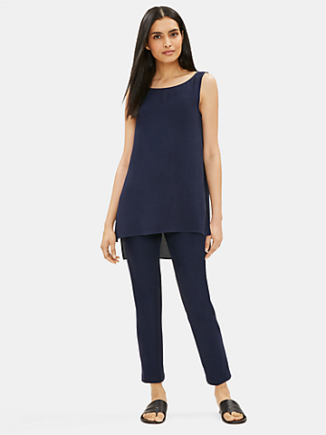 System Washable Stretch Crepe Slim Ankle Pant