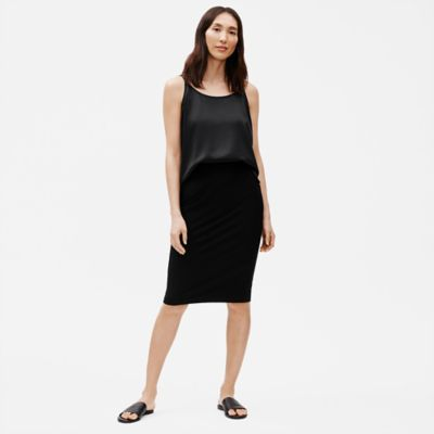 System Stretch Crepe Pencil Skirt