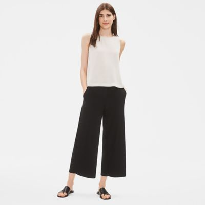 System Lightweight Washable Stretch Crepe Wide-leg Pant